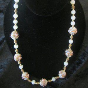 Handmade Murano Glass bead Necklace from Italy
